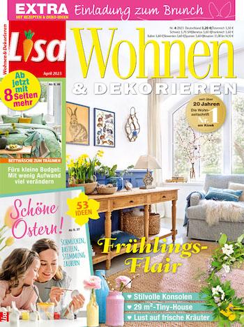 Lisa wohnen dekorieren abo effektiv nur 24 60 im for Lisa wohnen und dekorieren romance